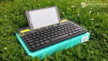 Logitech K480 Multi-Device review tastatură bluetooth