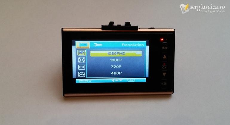 Remax CX-01 - alegere rezoluție